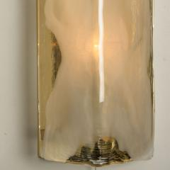 1 of the 8 Brass and Handblown Murano Glass Wall Lights by J T Kalmar 1960s - 1012961