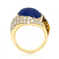 10 48 CT SAPPHIRE CABOCHON AND 0 54 CT DIAMOND COCKTAIL RING 18K YELLOW GOLD - 2077470