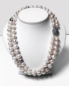 10 50 11 50 mm Freshwater Cultured Pearl double Necklace - 1118600