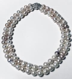 10 50 11 50 mm Freshwater Cultured Pearl double Necklace - 1118601