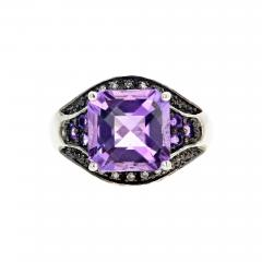 10 Carat Amethyst and Diamond Ring - 1873529