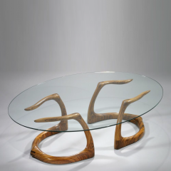 David Ebner Rare and Early Sternum Coffee Table 1980 - 6369