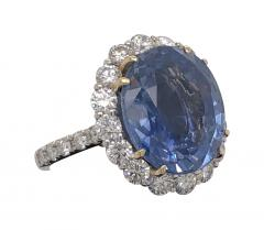 11 18 ct unheated Ceylon sapphire ring - 1553943