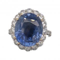 11 18 ct unheated Ceylon sapphire ring - 1553944