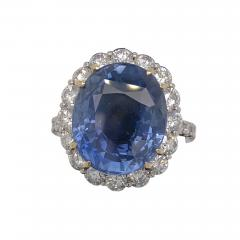 11 18 ct unheated Ceylon sapphire ring - 1554602