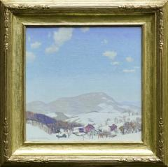 Carl E Lawless Oil on Canvas Entitled Village in Winter  - 4231