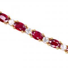 12 0 CTW Ruby and 2 50 CTW Diamond 18K Line Bracelet - 2007474