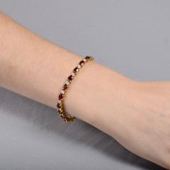 12 0 CTW Ruby and 2 50 CTW Diamond 18K Line Bracelet - 2007475