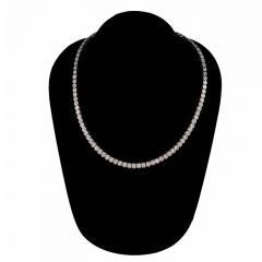 12 03 Carat Diamond Bezel Set Platinum Necklace - 391008