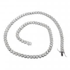 12 03 Carat Diamond Bezel Set Platinum Necklace - 397260