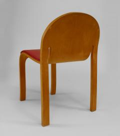 12 American Mid Century Modern 1960s Plywood Side Chairs - 424827