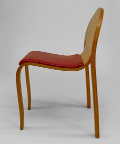 12 American Mid Century Modern 1960s Plywood Side Chairs - 424828