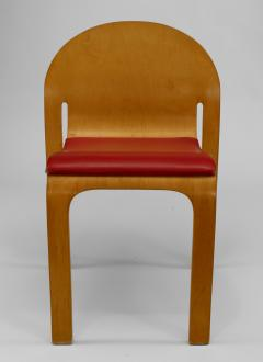 12 American Mid Century Modern 1960s Plywood Side Chairs - 424830