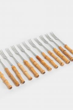 12 Swiss Fondue Forks 50s - 1638597