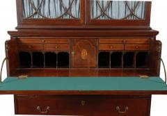 john shaw federal mahogany desk and bookcase annapolis c - Mahogany Desk