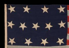 13 Entirely Hand Sewn Stars U S Navy Small Boat Ensign of the Civil War Period - 648452