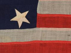 13 Entirely Hand Sewn Stars U S Navy Small Boat Ensign of the Civil War Period - 648453