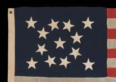 13 Hand Sewn Stars In A Beautiful Medallion Configuration on an Antique Flag - 638083