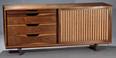 George Nakashima Double Sliding Door Cabinet Grilled Pandanus 1961 - 7031