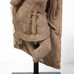 13th Century Indian Sandstone Stele Figure Dancing Goddess Antiquity Fragment - 1949935