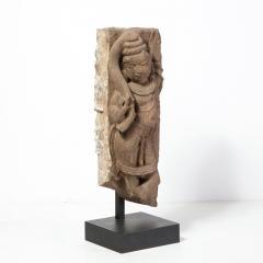13th Century Indian Sandstone Stele Figure Dancing Goddess Antiquity Fragment - 1949945