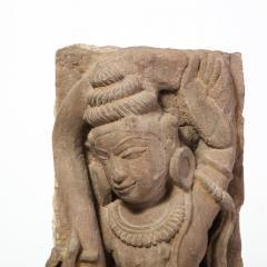 13th Century Indian Sandstone Stele Figure Dancing Goddess Antiquity Fragment - 1949946