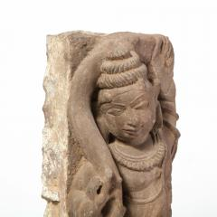 13th Century Indian Sandstone Stele Figure Dancing Goddess Antiquity Fragment - 1949959