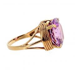 14 51 Carat Natural Kunzite Gold Ring - 1865980