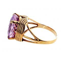14 51 Carat Natural Kunzite Gold Ring - 1865981