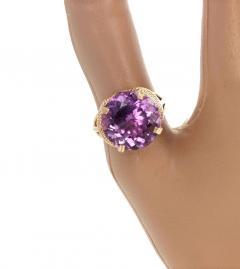 14 51 Carat Natural Kunzite Gold Ring - 1865982