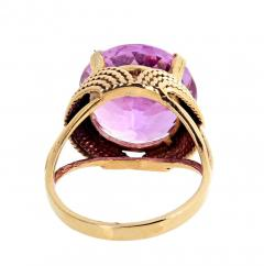 14 51 Carat Natural Kunzite Gold Ring - 1865983