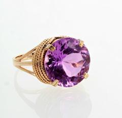 14 51 Carat Natural Kunzite Gold Ring - 1865989