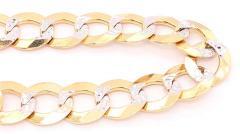 14 Karat Two Tone White and Yellow Gold Fancy Link Bracelet - 1244495