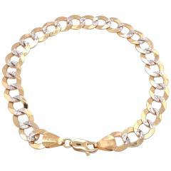 14 Karat Two Tone White and Yellow Gold Fancy Link Bracelet - 1244498