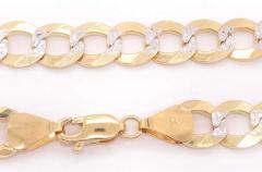 14 Karat Two Tone White and Yellow Gold Fancy Link Bracelet - 1244500