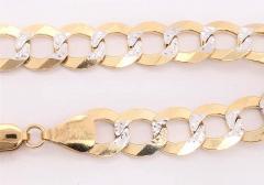 14 Karat Two Tone White and Yellow Gold Fancy Link Bracelet - 1244501