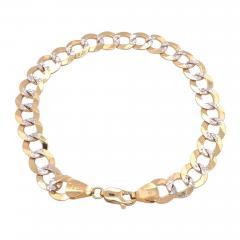 14 Karat Two Tone White and Yellow Gold Fancy Link Bracelet - 1245503