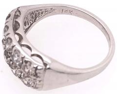 14 Karat White Gold Contemporary Diamond Band Wedding Anniversary Ring - 1246665