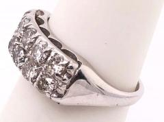 14 Karat White Gold Contemporary Diamond Band Wedding Anniversary Ring - 1246668
