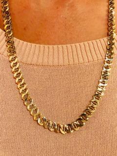 14 Karat Yellow Gold Fancy Link Necklace - 1240863