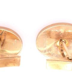 14 Karat Yellow Gold Oval Onyx Cufflinks - 1246810