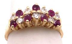 14 Karat Yellow Gold Ruby and Diamond Fashion Ring - 1246850