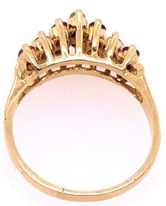14 Karat Yellow Gold Ruby and Diamond Fashion Ring - 1246851