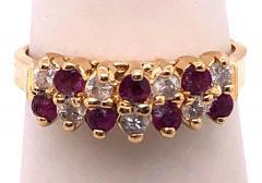 14 Karat Yellow Gold Ruby and Diamond Fashion Ring - 1246852