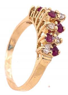 14 Karat Yellow Gold Ruby and Diamond Fashion Ring - 1246854