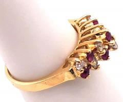 14 Karat Yellow Gold Ruby and Diamond Fashion Ring - 1246856