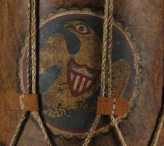 Early American Militia Drum with a Dramatic Folk Style Eagle 1812 1846 - 14852