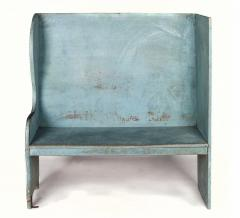 Pair of Robins Egg Blue Painted Benches from a Portico on an 1890s Home - 14900