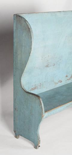 Pair of Robins Egg Blue Painted Benches from a Portico on an 1890s Home - 14902