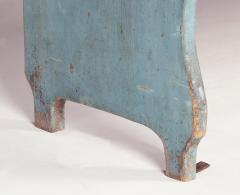 Pair of Robins Egg Blue Painted Benches from a Portico on an 1890s Home - 14904